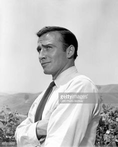 James Drury stars as Major Nick Alborg in the CBS television science fiction program 'Men into Space' episode 'Tankers in Space' Image dated July Doug Mcclure, James Drury, Actor James, The Virginian, July 14, Guy Pictures, Having A Crush, Cowboys, Science Fiction