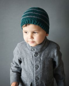 Free Knitting Pattern - Hats: Adorable Toddler Beanie