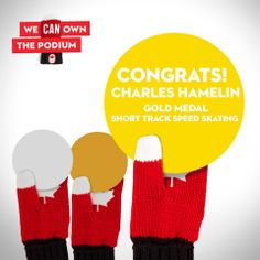 end Charles Hamelin, our short track speed skater, a postcard to congratulate him! http://on.fb.me/1e70tnh #HBCOlympics #WeAreWinter #Sochi2014 #Gold