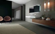 meuble salle de bain en bois et blanc - Zero par Rifra