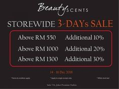 5a303810f6 14-16 Dec 2018  Beauty Scents Special Sale Malaysia