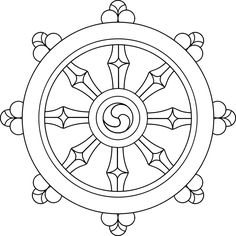 wheel of dharma   ... and the complexity of it possible the symbol of dharma the wheel