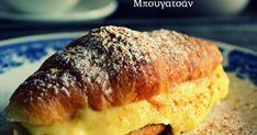 Το μπουγατσάν έχει κάνει την εμφάνισή του σε ζαχαροπλαστεία της Θεσσαλονίκης και ήδη έχει αποκτήσει φανατικούς φίλους... Το μπουγατ... Breakfast Recipes, Dessert Recipes, Desserts, Banana Bread, Pork, Food And Drink, Tailgate Desserts, Kale Stir Fry, Deserts