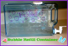 Bubble Refill Container