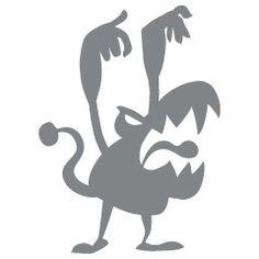 Scary Monster - Magische Wereld - Muurstickers - ApplePie Design