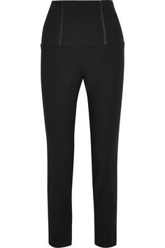 Tibi Stretch-crepe Skinny Pants - Black