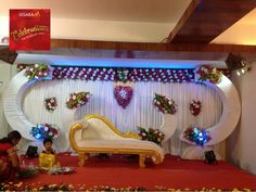 Banquet Halls in Vadapalani, Chennai Reception Stage Decor, Wedding Stage Backdrop, Wedding Backdrop Design, Desi Wedding Decor, Wedding Stage Design, Simple Wedding Decorations, Wedding Entrance, Wedding Canopy, Entrance Decor