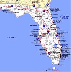 9 best Maps images on Pinterest | Florida, Florida city and Florida ...