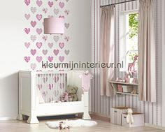 Happy hartjes behang 05583-10 meisjes Dutch Wallcoverings