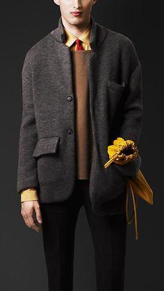 Burberry Prorsum S/S14 Cashmere Knit Tailored Jacket