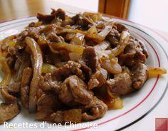 Recettes d'une Chinoise: Bœuf sauté aux oignons de Roscoff 洋葱牛肉 yángcōng niúròu