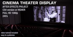 Cinema Theater Display Real Cinema, Cinema Theatre, After Effects Projects, Simple Illustration, You Videos, Hd 1080p, Template, Display, Illustrations