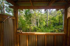 Our amazing outdoor shower (photo: Graham Freeman)
