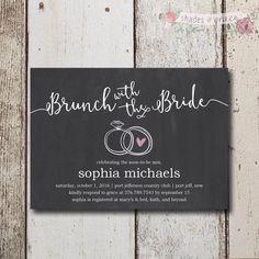 Rustic Bridal Shower Invitation Instant Download, Bridal Shower Invites, Chalkboard Invitations, DIY Bridal Shower Invitations, Download by ShadesOfGrace1 on Etsy