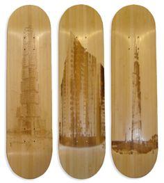 Piotr Woronkowicz Laser-Etched Skateboard Art