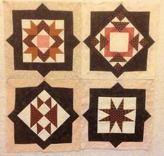 Tilde's Quilts showing how to use the shapes from 12 inch Hunter's Star collection for sashing 6 inch blocks