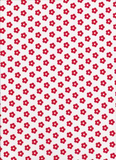 Lecien Color Basic 40185 10 red flowers on by DonnasLavenderNest