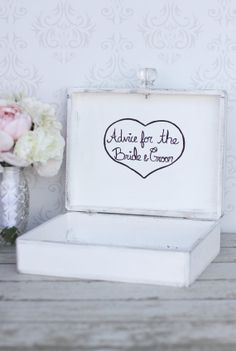 Guest Book Box Advice For The Bride and Groom Shabby Chic Wedding Decor (Item Number 140249)