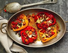 Roasted Red Peppers With Anchovies And Tomatoes Recipe | Food Republic