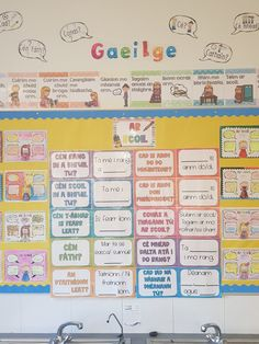 Ar Scoil – Comhrá Pack – 20 posters, reference sheet and worksheet – Mash. Irish Language, 5th Class, School Displays, Thing 1, School Bulletin Boards, Crafts For Kids, Craft Kids, Primary School, Classroom Decor