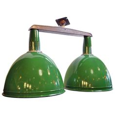 green enamel industrial two arm fixture from a unique collection of antique and modern arteriors soho industrial style pendant light fixture