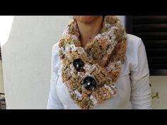 """DIY"" Tutorial Bufandas a Crochet o Pañuelo,Crochet scarves Finger Knitting, Arm Knitting, Crochet Scarves, Knit Crochet, Crochet Neck Warmer, Diy Tutorial, Veronica, Sewing Ideas, Youtube"