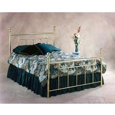 Hillsdale Furniture 1038BQ2 Chelsea Bed Set with Rails, Queen, Classic Brass
