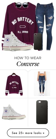 """I'm just a sucker for pain"" by josie-posie on Polyvore featuring WithChic and Converse"