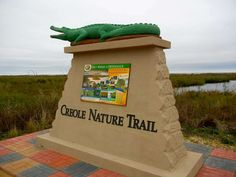 The Creole Nature Trail in Louisiana comprises 180 miles of road and occasional hiking trails. It is known as a showcase for 400 species of birds   more during migrations and alligators. You can download a free tour app from iTunes or Google Play. Search for Creole. If you don't have a smartphone, pick up a GPS guide from the Lake Charles Visitors Bureau, 1205 N. Lakeshore Drive. Photo: Helen Anders