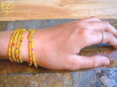 Unique Wrap Bracelet. World War Z Inspired Yellow by LunaBanana, $26.00