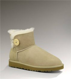 UGG Mini Bailey Button 3352 Sand Boots Only $99.00 Free Shipping