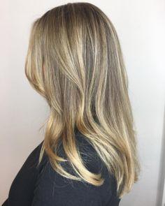 Shades of blonde beige. Hair by SALON by milk + honey stylist, Krystal N. #blonde #haircolor #milkhoneyhair