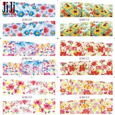 1X Nail Sticker NEW 2016 Blooming Flowers Patterns Water Transfer Decals Stamp Nail Art Decorations Watermark Tips#BN001 012 on Aliexpress.com   Alibaba Group