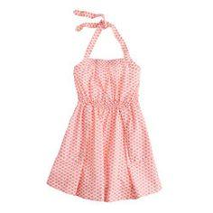 JCrew Girls' apron dress in sushi print