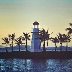Lighthouse at Hamilton Island Marina, Queensland, Australia