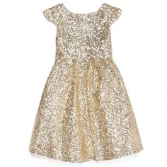 www.gardennearthegreen.com Moon Festival Dress - Gold - Girls Dresses - SALE - Girls