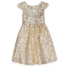 Gold flower girl dress! Just like the bridesmaids dresses