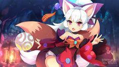 Monster Super League - Vulpiness Ran by Shirogahara Monster Super League, Neko, League Gaming, Kawaii Anime, Games To Play, Anime Art, Jackson, Fan Art, Concept