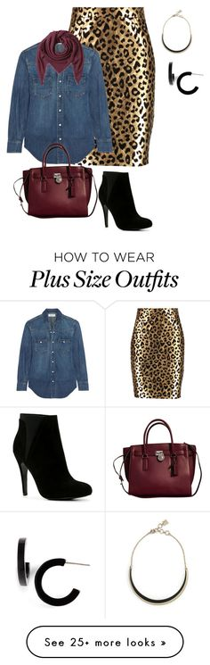 """plus size day office glam"" by kristie-payne on Polyvore featuring Milly, Yves Saint Laurent, Michael Kors, Faliero Sarti, ALDO, L. Erickson and BCBGMAXAZRIA"