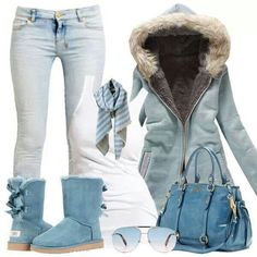 Hoodies outfit with ugg boots