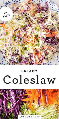 The BEST coleslaw recipe! Made with crisp veggies and a lightly creamy, tangy dressing, this easy coleslaw recipe is the perfect summer side dish. Gluten-free, vegan option.   Love and Lemons #coleslaw #salad #sidedish #healthyrecipes Best Coleslaw Recipe, Homemade Coleslaw, Creamy Coleslaw, Camping Menu, Camping Foods, Backpacking Meals, Kayak Camping, Ultralight Backpacking, Camp Meals