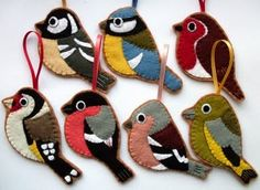 Felt bird ornament.