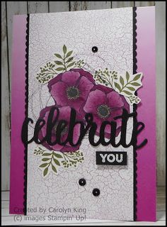 Using two of my favourite Sate-a-bration items for this project, the Celebrate You Thinlits Dies and the Amazing You stamp set. You can g...