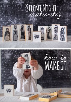 DIY nativity blocks