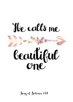 You are beautiful fearfully wonderfully made wall decal wall arise my darling my beautiful one come with me song of solomon we never get tired of being called beautiful by the people we care about it has a sweet altavistaventures Gallery