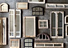 Shop Online or contact us for more options available in store! Antique Windows, Vintage Windows, Antique Doors, Reclaimed Doors, Mirror Shop, Vintage Doors, Window Mirror, Come And See, Store Fronts