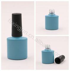 Hot selling wholesale custom empty uv gel glass nail polish bottle with brush cap