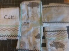 Afternoon project , burp cloths from diapers