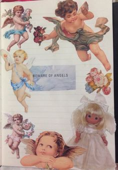 beware of angels scrap journal -Kindercow: beware of angels scrap journal - Found on iFunny 54 karácsonyi angyal Nicole Dollanganger, Sestri Levante, Angel Aesthetic, Beige Aesthetic, Baby Cows, Angels And Demons, Creepy Cute, Little Doll, Renaissance Art