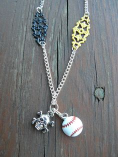 Pittsburgh Pirates Baseball Necklace - $19.99 on my Etsy